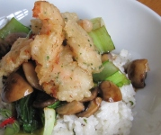Tempura shrimp with Coconut Rice #1